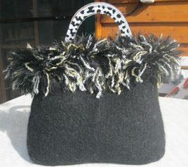 Schwarze Fransen-Tasche
