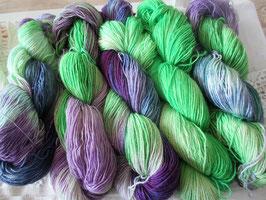 Wolle Lila-Grün