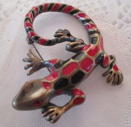 Salamander-Brosche