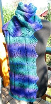 Schal mit Zacken Blau-Türkis