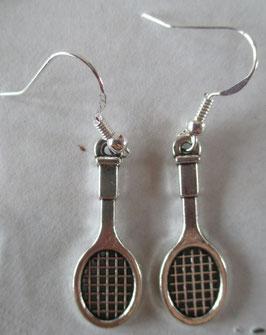 Tennisschläger-Ohrringe