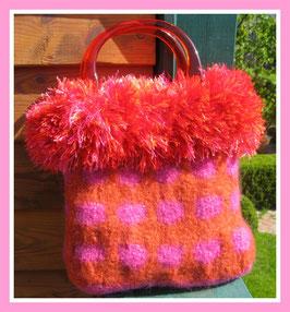 Fransen-Tasche in Orange-Rot