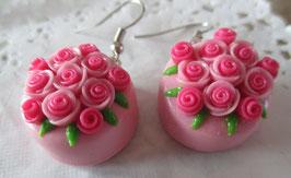 Rosa Torten-Ohrringe