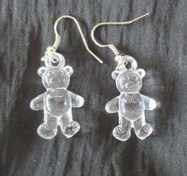Bären-Ohrringe durchsichtig