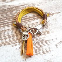 Armband ★Vagabond★ Poppy Orange