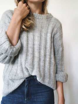 Stricket Längsstreifen Sweater