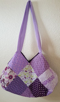 Tolle Tasche in weiss / lila