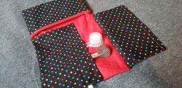 Schminkpinseltasche mit Reisverschlusstasche
