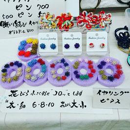 アジアンコード ピアス・イヤリング・ブローチ 飾り結びメドゥプ花結び
