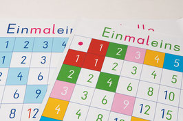 Einmaleins-Tabellen *LERNROBOTER-KOMPATIBEL*