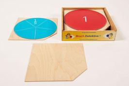 Brüche in Montessori-Farben