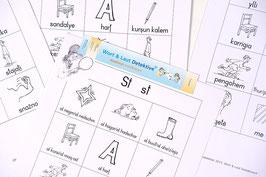 80 Seiten mit allen Begriffen in der gewählten Sprache