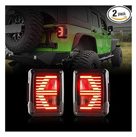 Jeep Wrangler Rear Replacement Tail Lights LT7