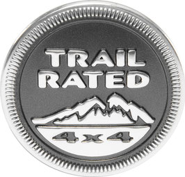 Jeep Trail Rated Metal Badge