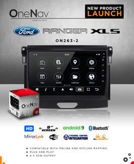 OneNav  Android9  Radio for Ranger Facelift 2016 - 2019