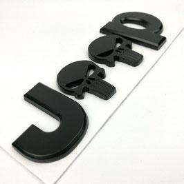 Jeep Full Black Skull Logo