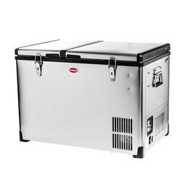 SnoMaster SMDZ-CL56DStainless Steel Dual Fridge/Freezer Double Door