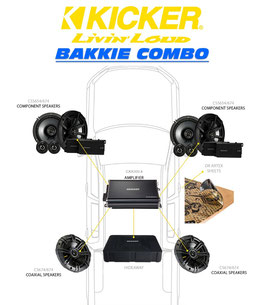 KICKER Combo deal for Toyota Hilux DC