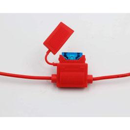 Medium fuse holder, 15A, 15cm on both sides