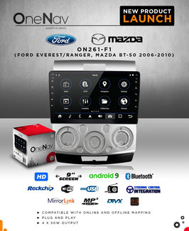 OneNav  Android9  Radio for Ranger/Everest/BT-50  (2006 - 2010)