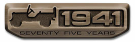 Jeep 75th Anniversary 1941 Metal Badge