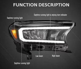 Ford Ranger T7 LED Headlights
