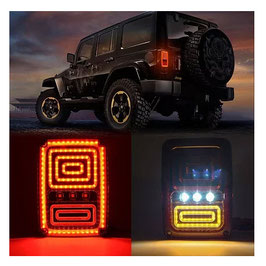 Jeep Wrangler Rear Replacement Tail Lights LT8
