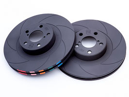 Powerbrake AT Series High-Carbon Discs with Mintex Pads COMBO  (FRONT SET)
