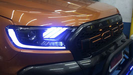 Ford Ranger T7 LED Headlights with DRL 2015 - Current