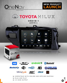 OneNav Android 9 Radio for Toyota Hilux REVO (GD-6)
