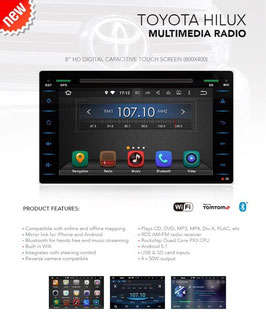 Universal Android Radio for Toyota Hilux REVO
