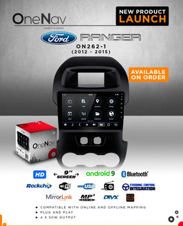 OneNav  Android9  Radio for Ranger T6 2012 - 2015