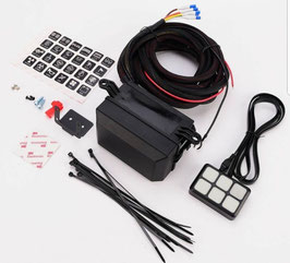 12V 6 Gang button switch panel with relay control box