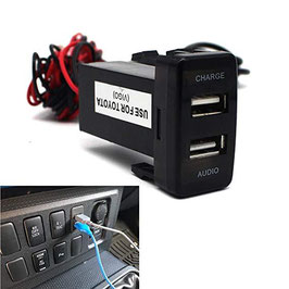 Ford Ranger 2012-2016 car charge 3.1A double USB(Charging) with Audio(USB music extension)