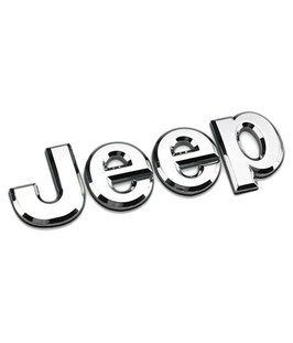 Jeep Logo Badge Chrome/Black