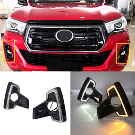 Hilux Revo Dakar Fog Lights with DRL