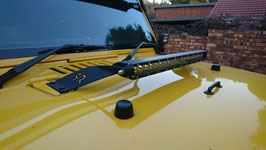 Jeep LED Bonnet Light Bar With Bracket Combo
