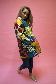 Up the Garden Path Long Cotton Jacket
