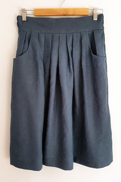 Dark Teal Waisted Skirt