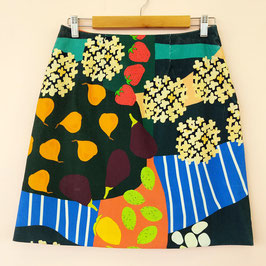 Up the Garden Path cord A-line skirt