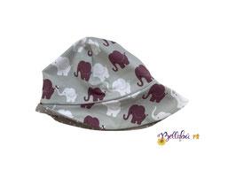 """Jersey Sonnenhut """"Elefanten"""" 42-45cm"""