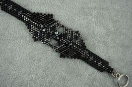 """Armband """"Dreieck Nachtwolf"""""""