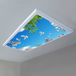 Rahmenkonstruktion - 3.60m x1.80m / Set 9 Stück Aufbaurahmen / LED Sky-Panels