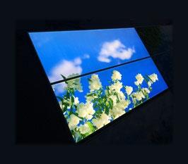 LED Deckenhimmel B1 - 1.20m x 1.20m - Set 2 Stück LED Panel 60x120cm, 60W, 6000-6500k, 0-10V dimmbar, inkl. Druck und Netzteil, Rahmenfarbe weiß