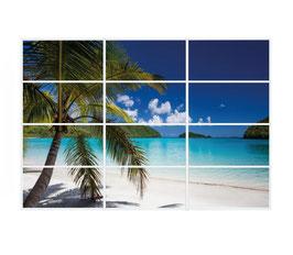 LED Deckenhimmel B5 - 3.60m x 2.40m - Set 12 Stück LED Panel 60x120cm, 60W, 6000-6500k, 0-10V dimmbar, inkl. Druck und Netzteil, Rahmenfarbe weiß