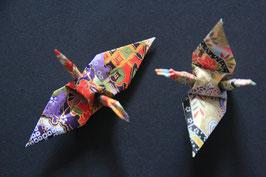 """SO/ Beutel 1 , Origami- Faltarbeit """"Schmuck- Kranich"""" 2,7 cm, zu 3 Stück in einem Beutel, bunt gemischt"""