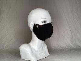 Vampire Alltagsmaske / Gesichtsmaske runde Form, schwarz