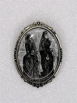 Brosche trauernde Witwen viktorianisches Motiv