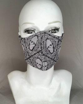 Alltagsmaske / Gesichtsmaske runde Form, Totenkopf, jetzt noch eine verfügbar