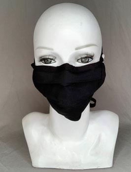 Alltagsmaske / Gesichtsmaske uni schwarz